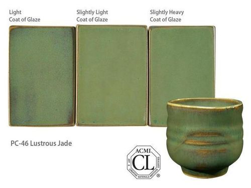 Amaco Potter's Choice PC-46 Lustrous Jade 1200-1230°C